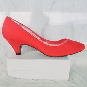 ❤ 4 for $25 ❤ #217 Peacock Red Heels Vintage 7